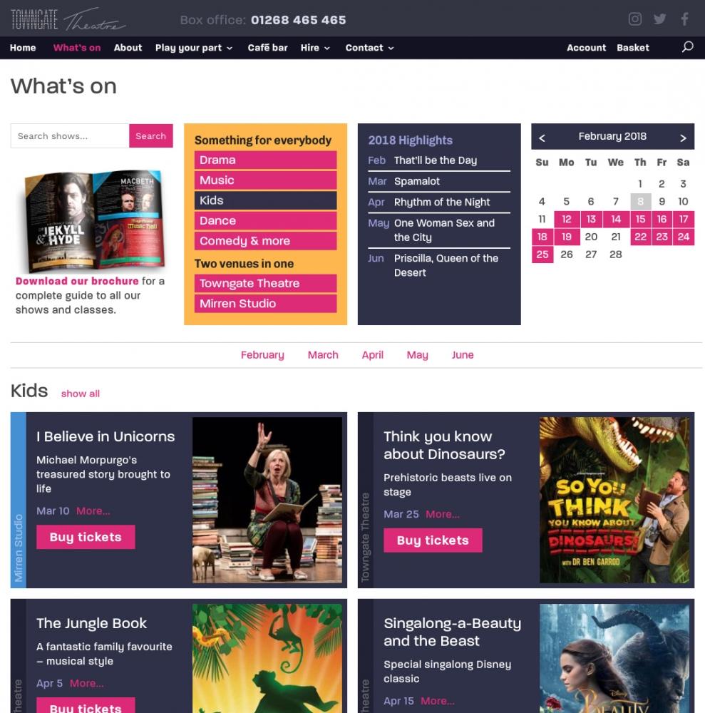 DOT – user-centred design and custom Spektrix integration