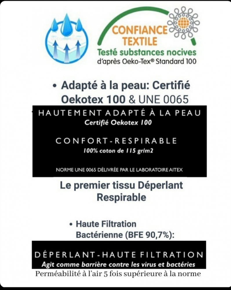 2 Masques de protection enfant « DESSINE SUR TON MASQUE ». Confection SPEC AFNOR S76-001:2020