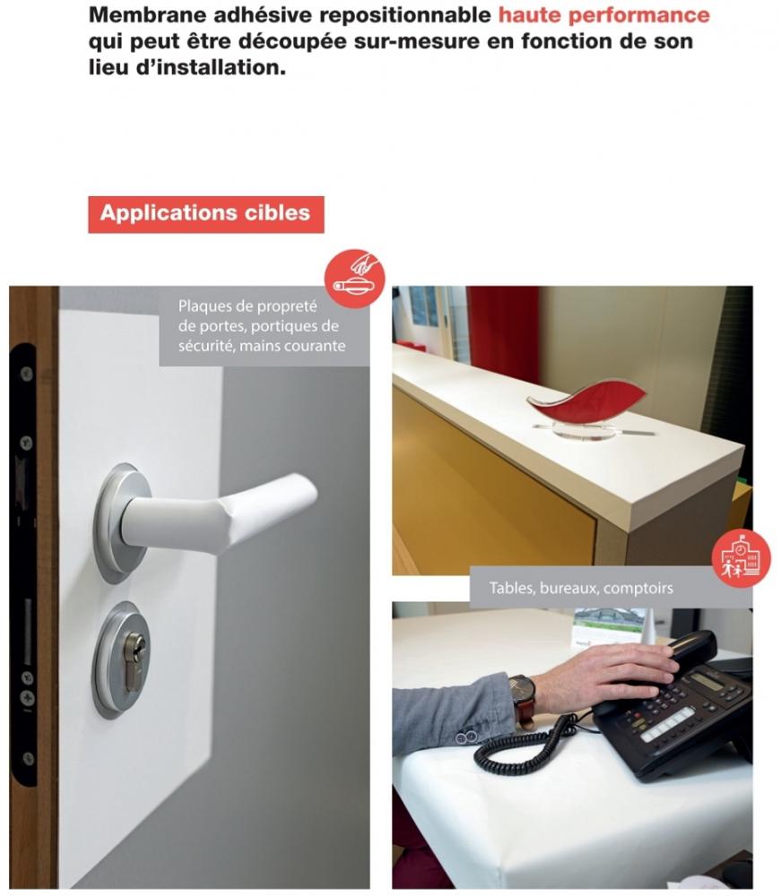 100x80 Protection anti COVID pour comptoir