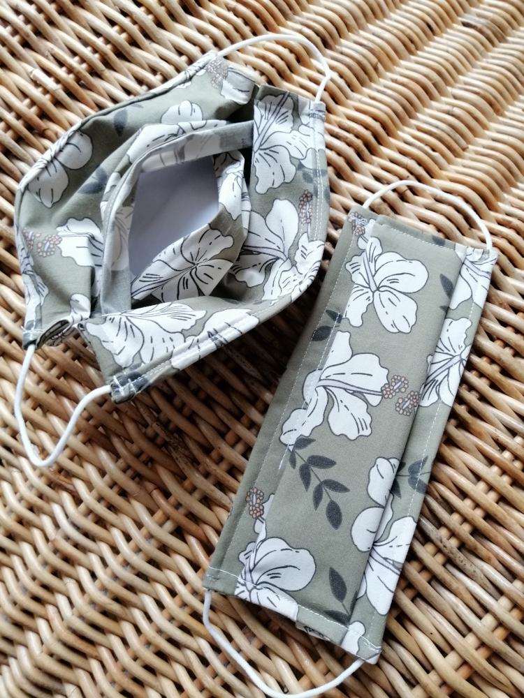 """Masques \""""à plis\"""" avec zone à filtre adulte, tissus fantaisies, made in France"""
