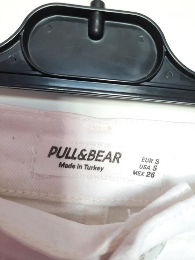 Jupe en jean blanche pull&bear blanche