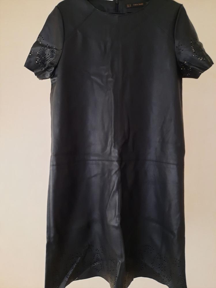 Robe simili cuir zara basic