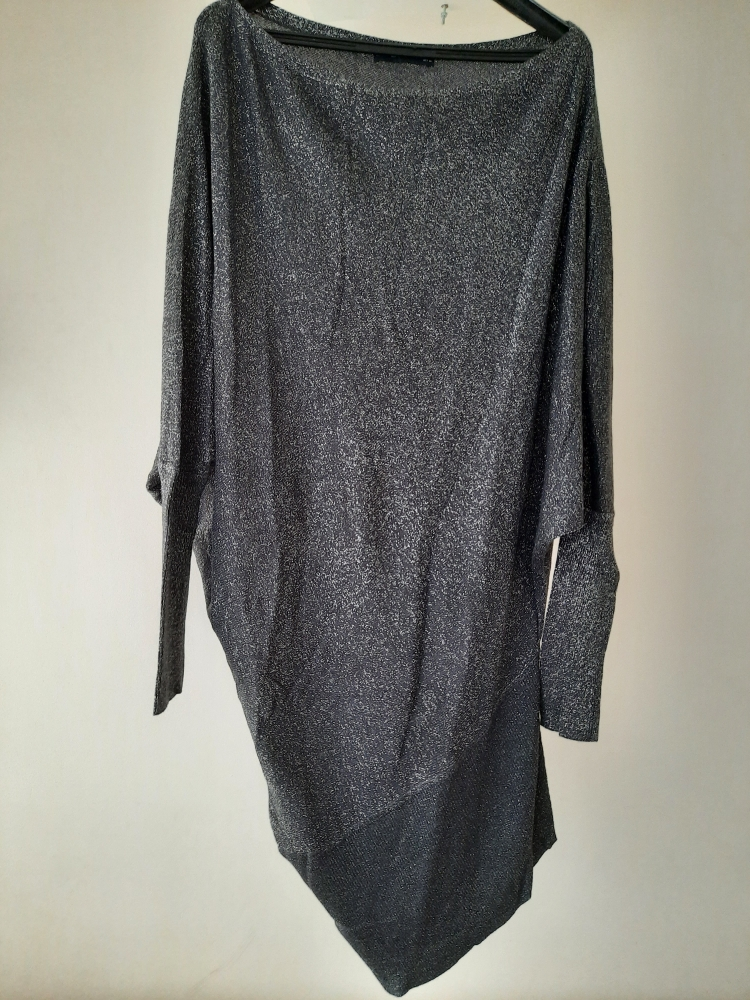 Robe pull  gris argentée Zara