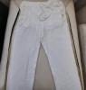 pantalon sport chic blanc cassé avec rayures noir et doré  sur les cotés  Briefly