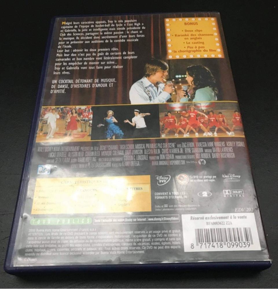 DVD High School Musical 1