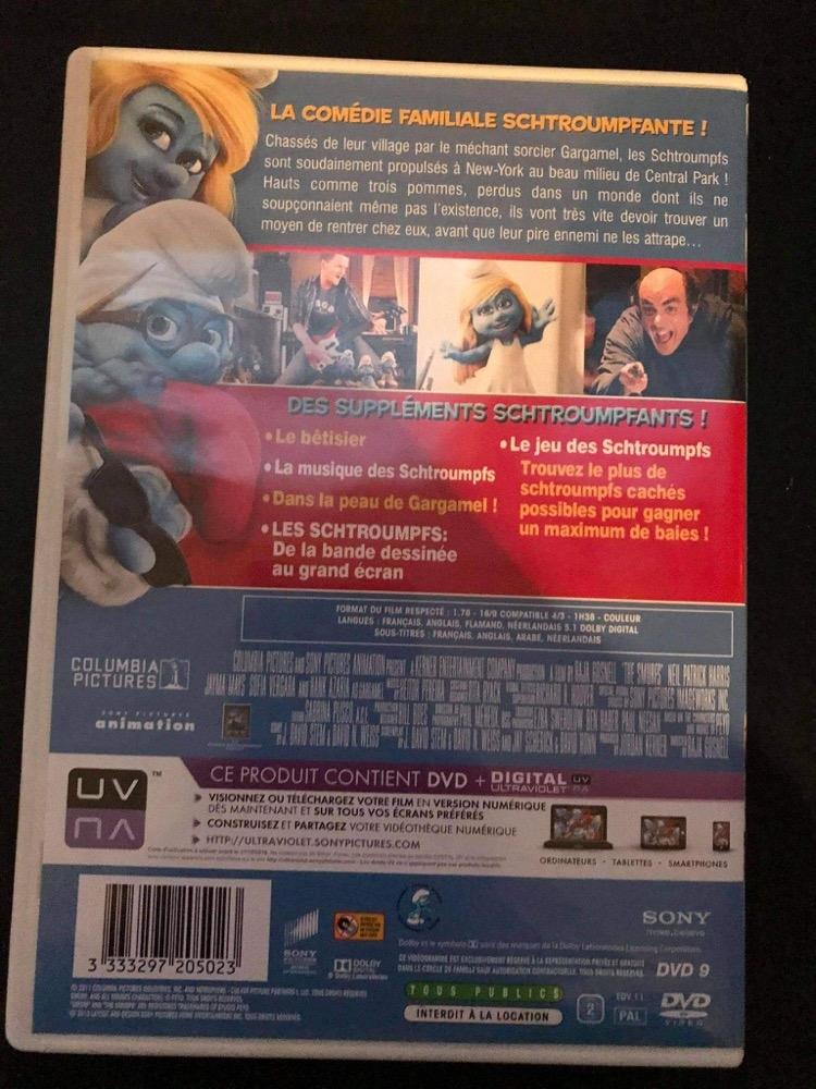 DVD Schtroumpfs 2
