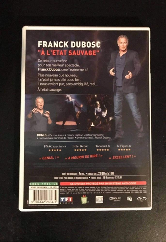 "DVD Franck Dubosc \""À l'état sauvage\"""