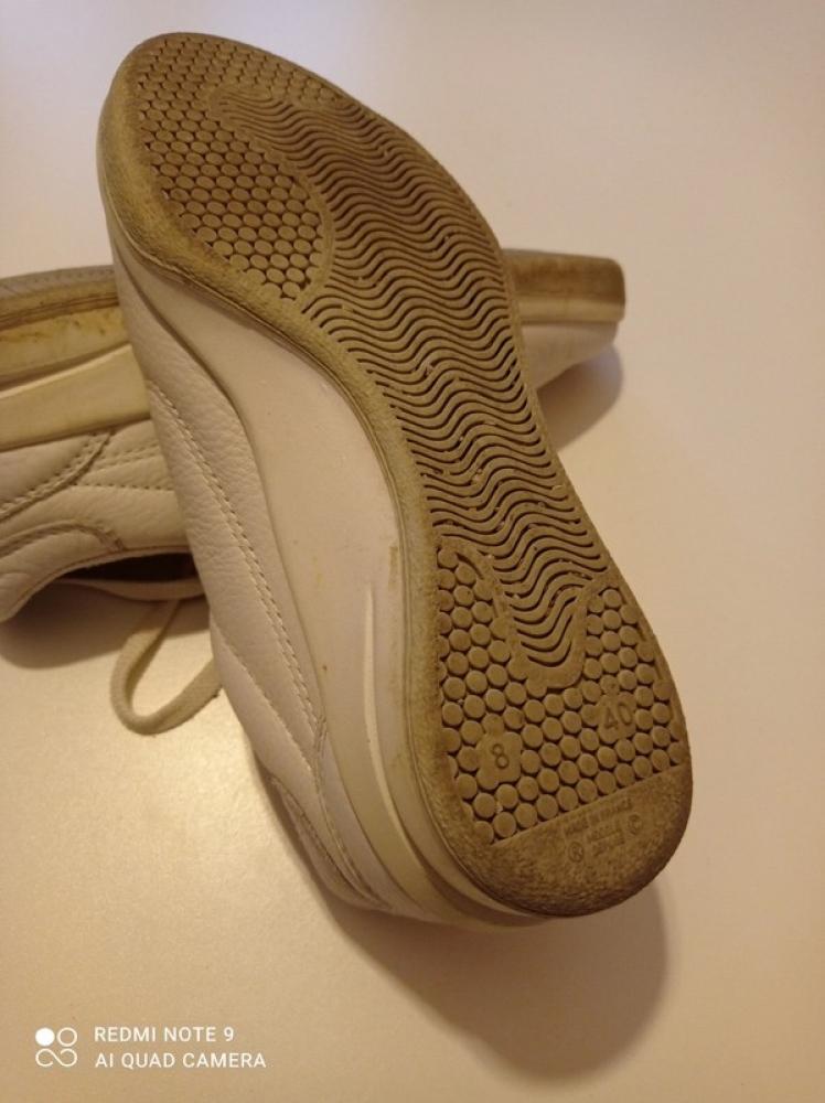 Baskets cuir TBS Blanche Pointure 40