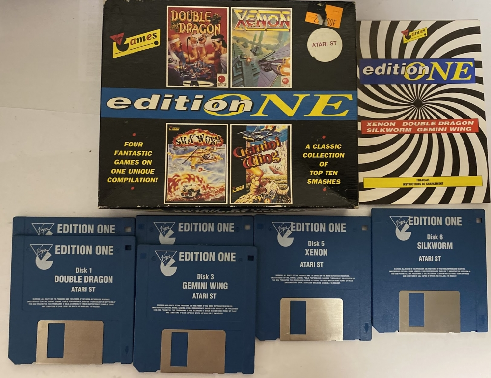 Édition one Atari St Xenon silkworm Gemini wings Double dragon