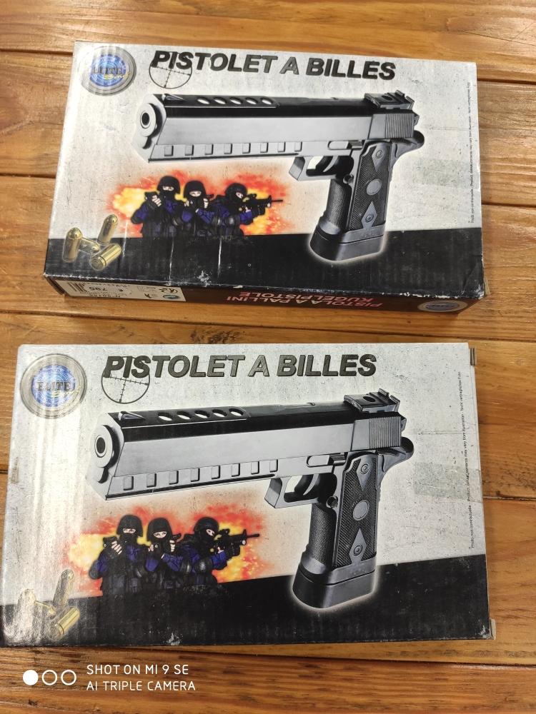 -50% .Pistolet à billes neuf .lot 2 .