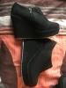 Chaussures noire compensée