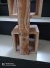 Etagère 4 Cubes à suspendre en bois blanchi