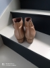 Boots bout rond cuir velours