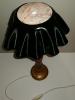 Lampe Bois vintage disque vinyle 33T Design & Art 80's