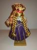 Rare Ancienne Poupée  Russe Artisanale  /  Figurine en bois en habits traditionnels