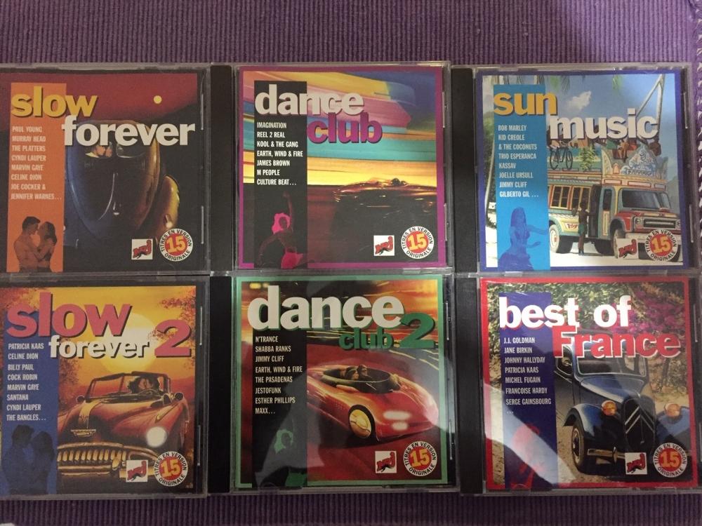 Lot de 6 CD  de pop musique de 1995 à 1996