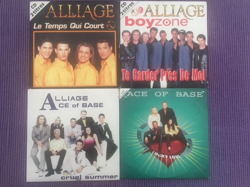 Lot de 27 CD  de musique pop de 22 chanteurs & groupes