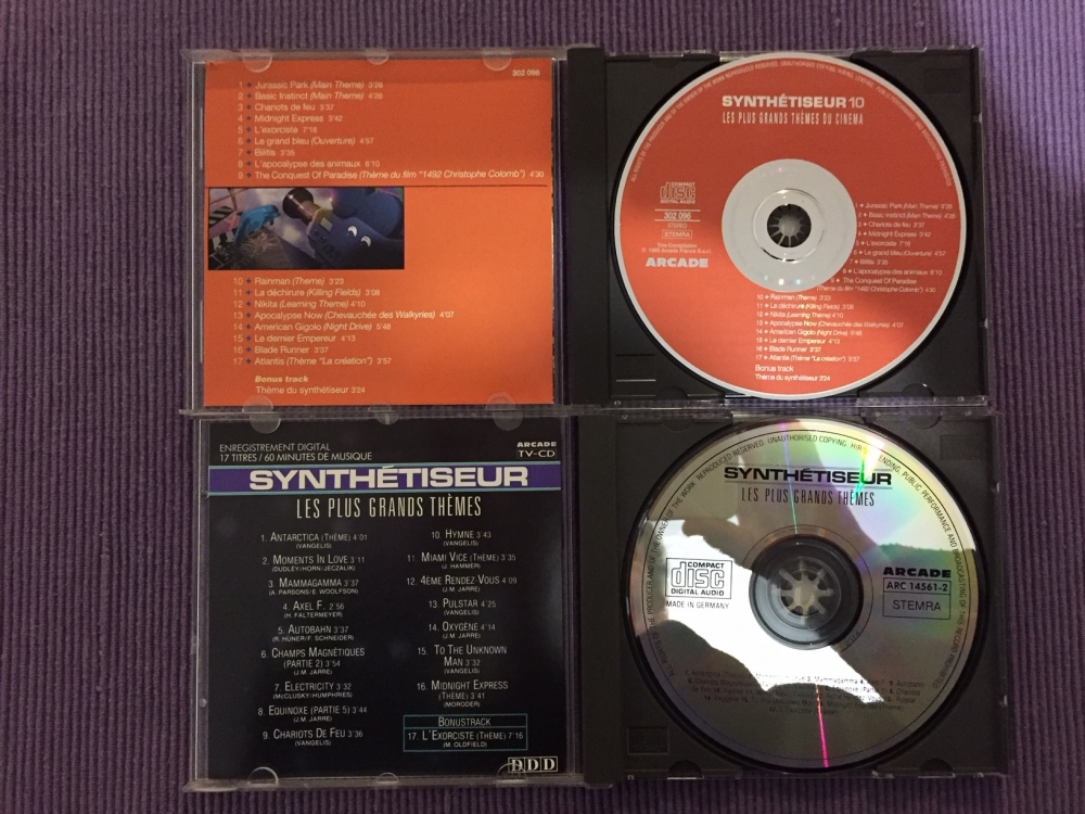 Lot de 10 CD  de musique de films