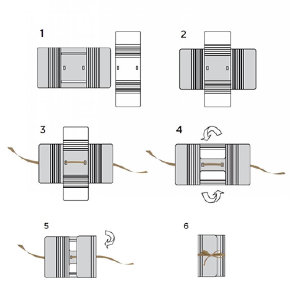 Boîte cadeau modulable et réutilisable LEA - Vert Feuillage