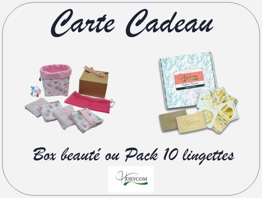 Carte Cadeau - Box Beauté ou Pack Lingettes Lavables