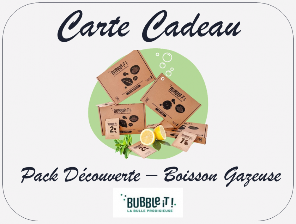 Carte Cadeau - Pack Boisson Gazeuse