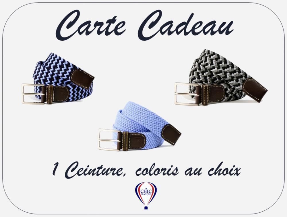 Carte Cadeau - 1 Ceinture, coloris au choix