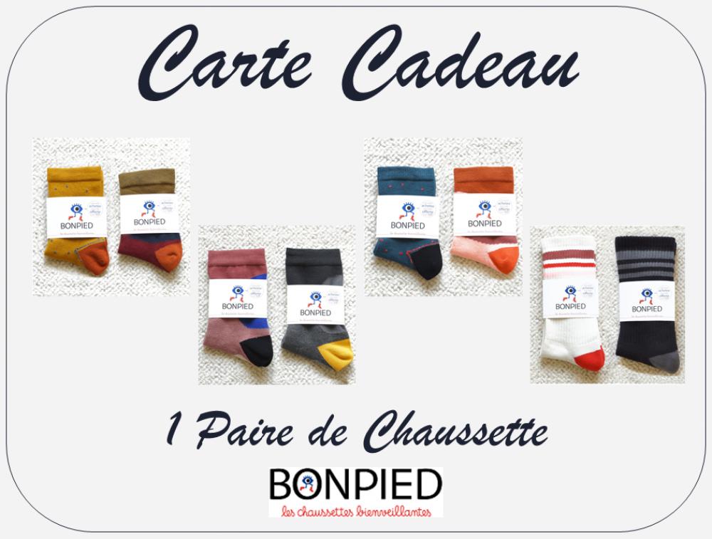 Carte Cadeau - 1 Paire de Chaussette Bonpied