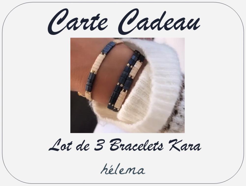 Carte Cadeau - Lot 3 Bracelets Kara