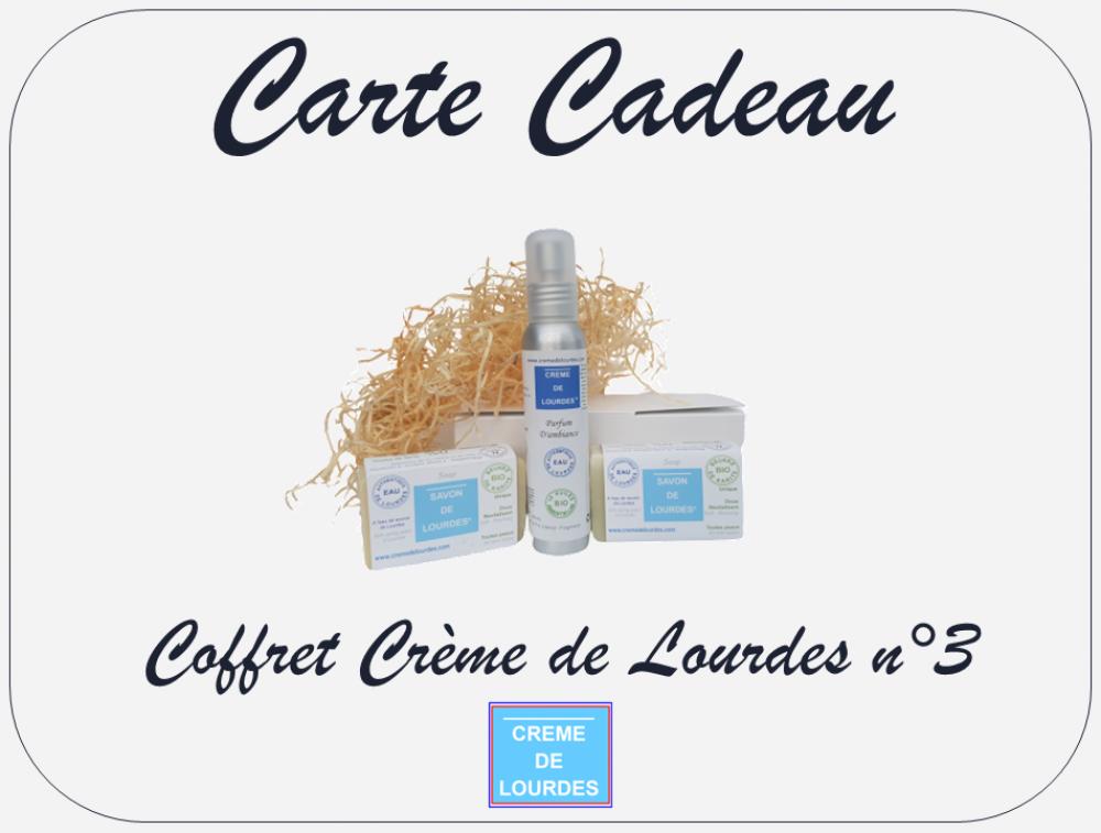 Carte Cadeau - Coffret Crème de Lourdes n°3