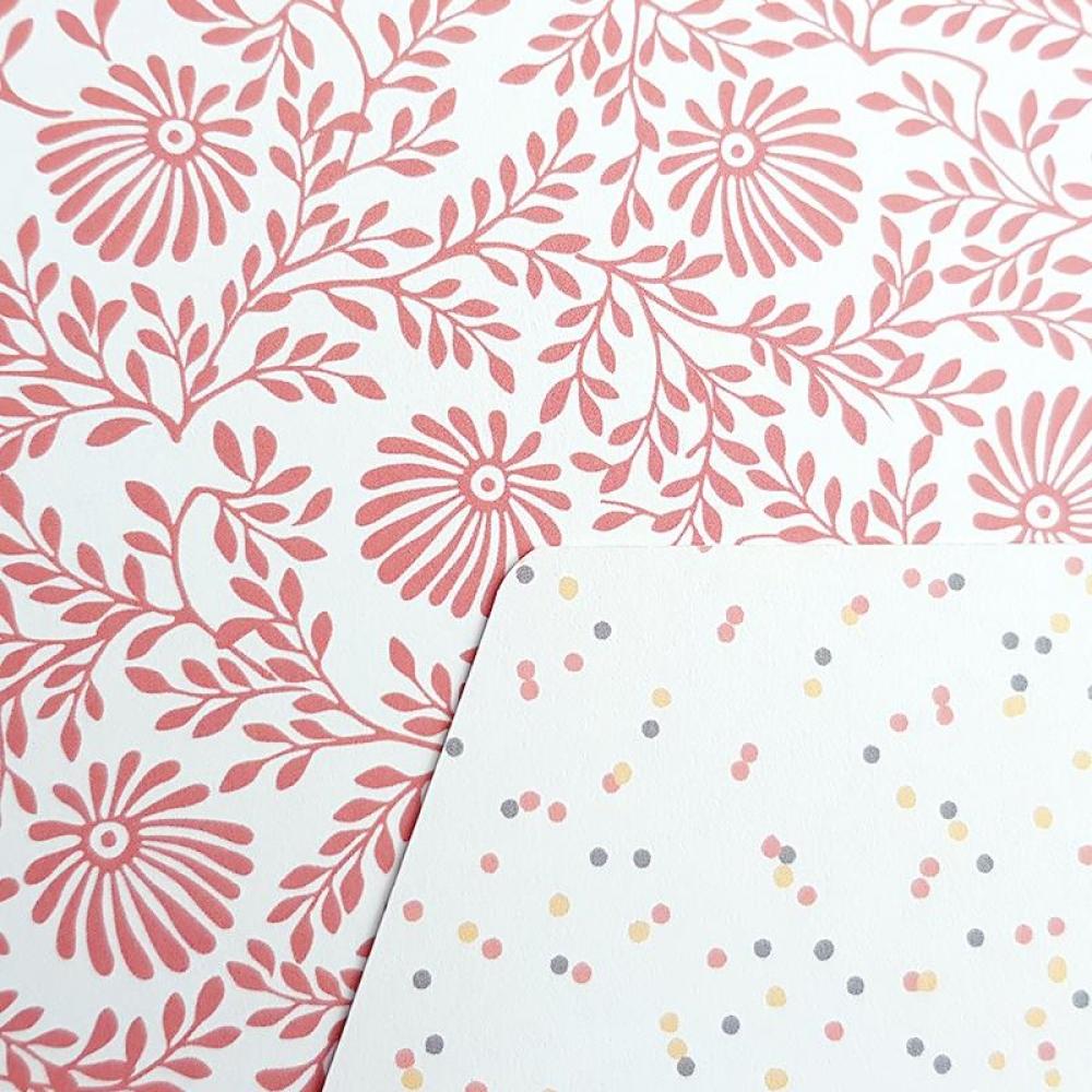 Pochette cadeau réutilisable SAM - Rose Fleur