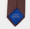 """Cravate en soie marron \""""La Chocolatée\"""""""