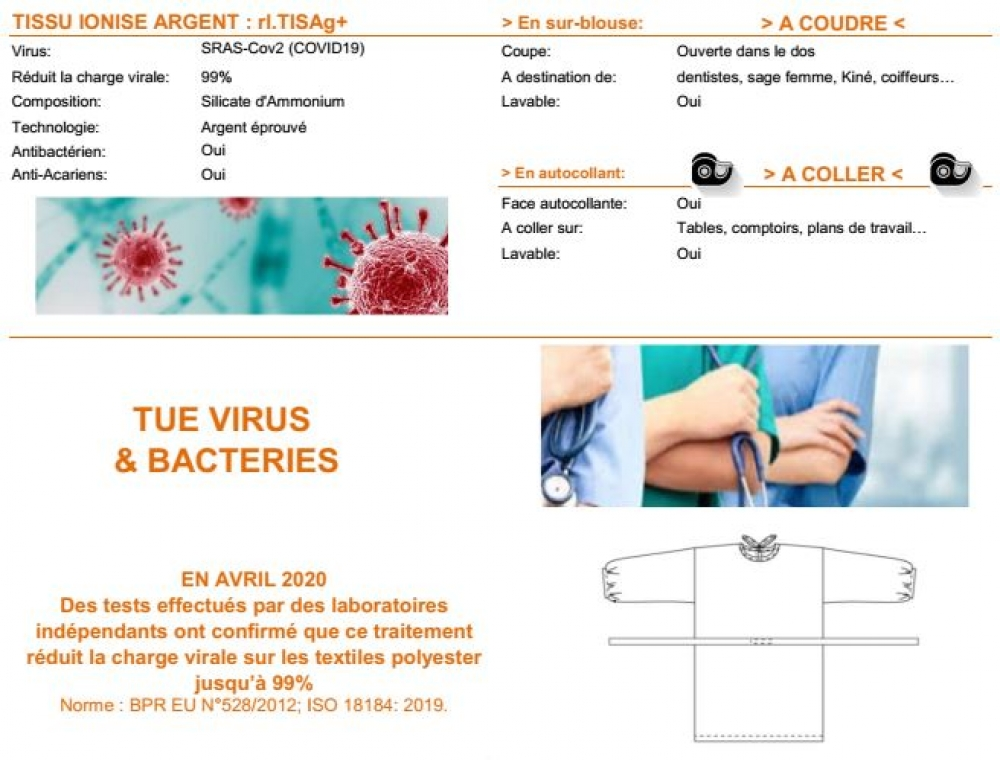 Tissu Anti Covid-19