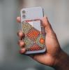 Porte-cartes repositionnable pour smartphone