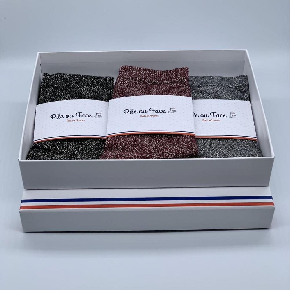 Coffret de 3 chaussettes - Le trio de folie
