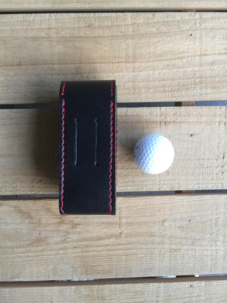 Sacoche pour 3 balles de golf marron