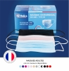 50 masques chirurgicaux de type IIR - taille adulte - Confort supérieur