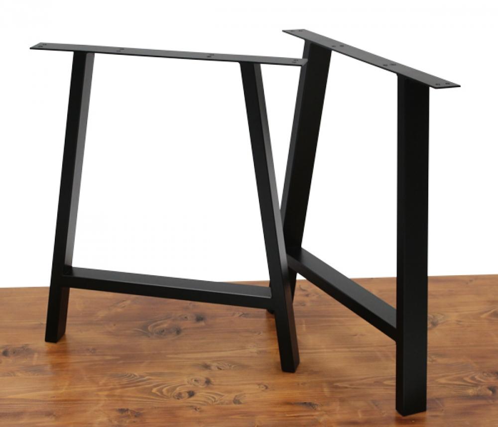 Un pied de table - Forme A - H71cm - L60cm - Métal Design
