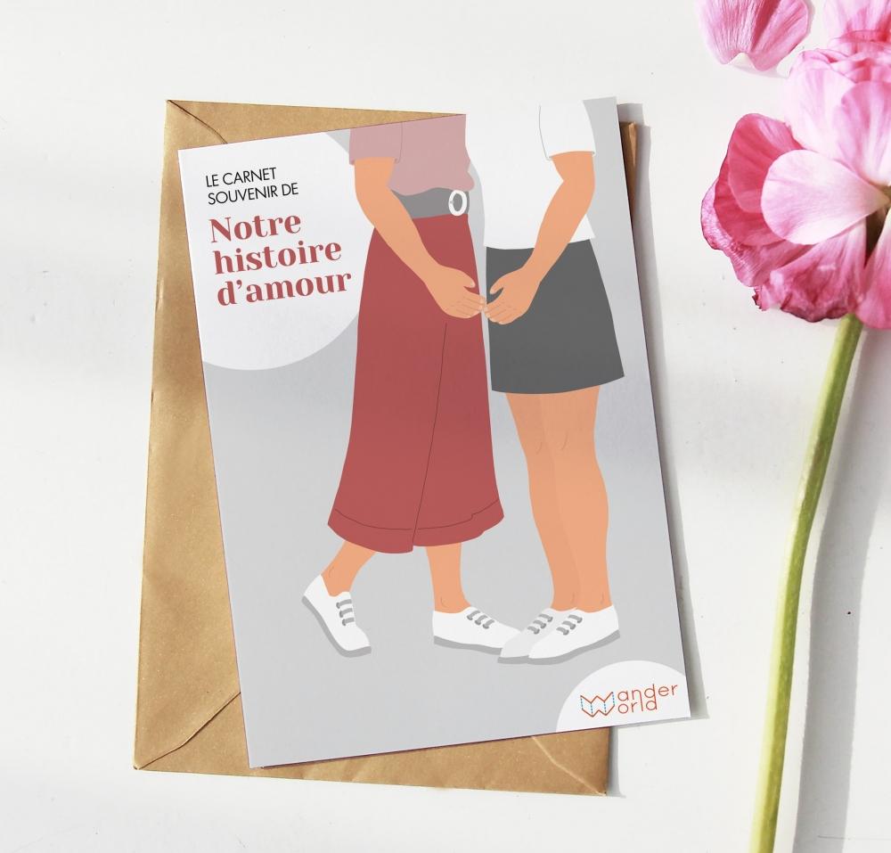 Le carnet histoire d'amour /  couple lesbien