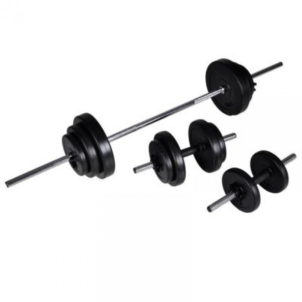 Barbell Squat Rack avec haltère et haltère Set 30.5 kg