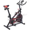 Exercice Spinning Bike avec capteurs d'impulsion noir et rouge