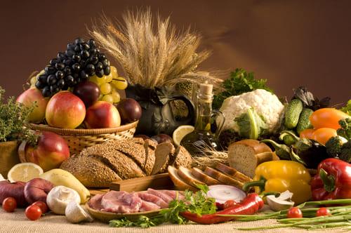 aliments bruts et naturels