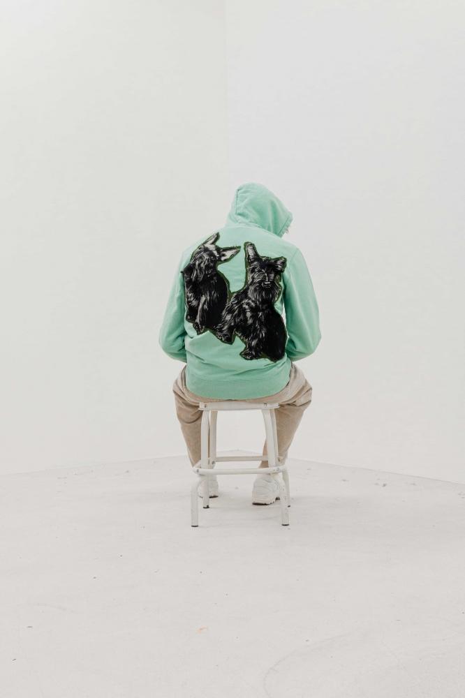 Sweat à capuche imprimés en soie