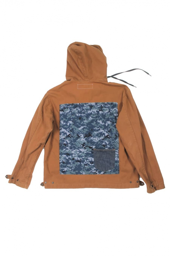 Veste en coton avec patchwork