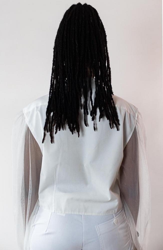 Chemise à Manches Transparentes