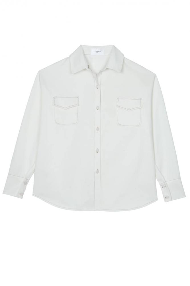 Chemise en coton Anny- Blanc