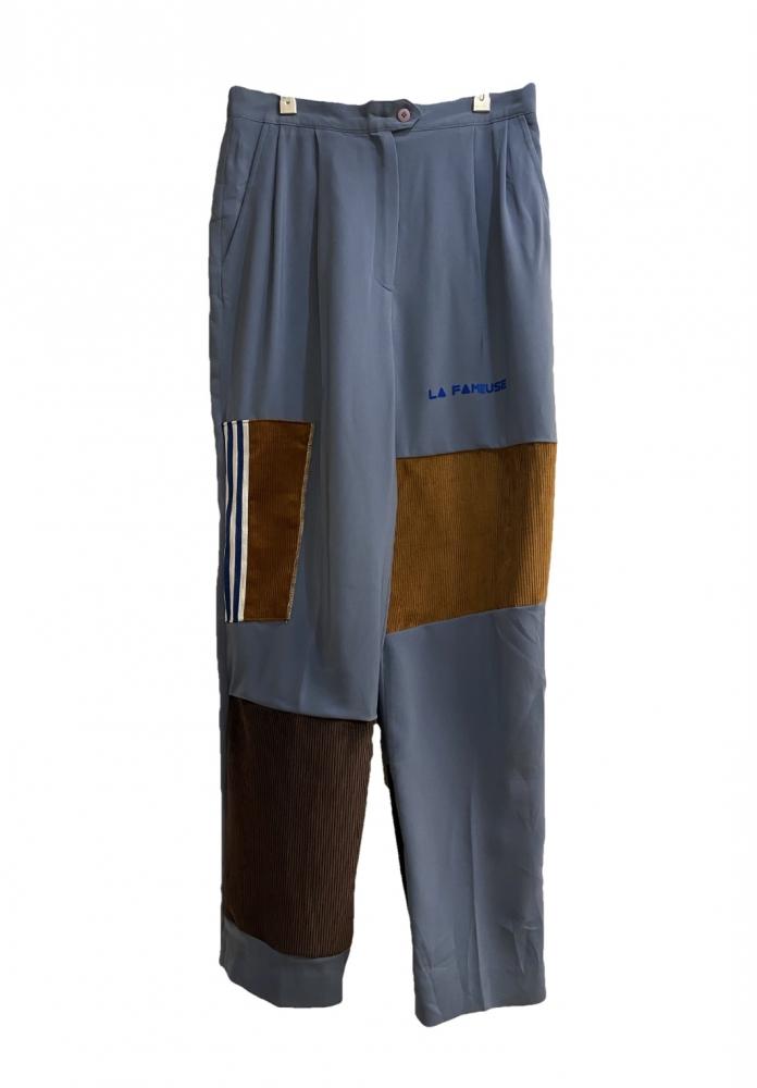 Pantalon Pince Mix Velours