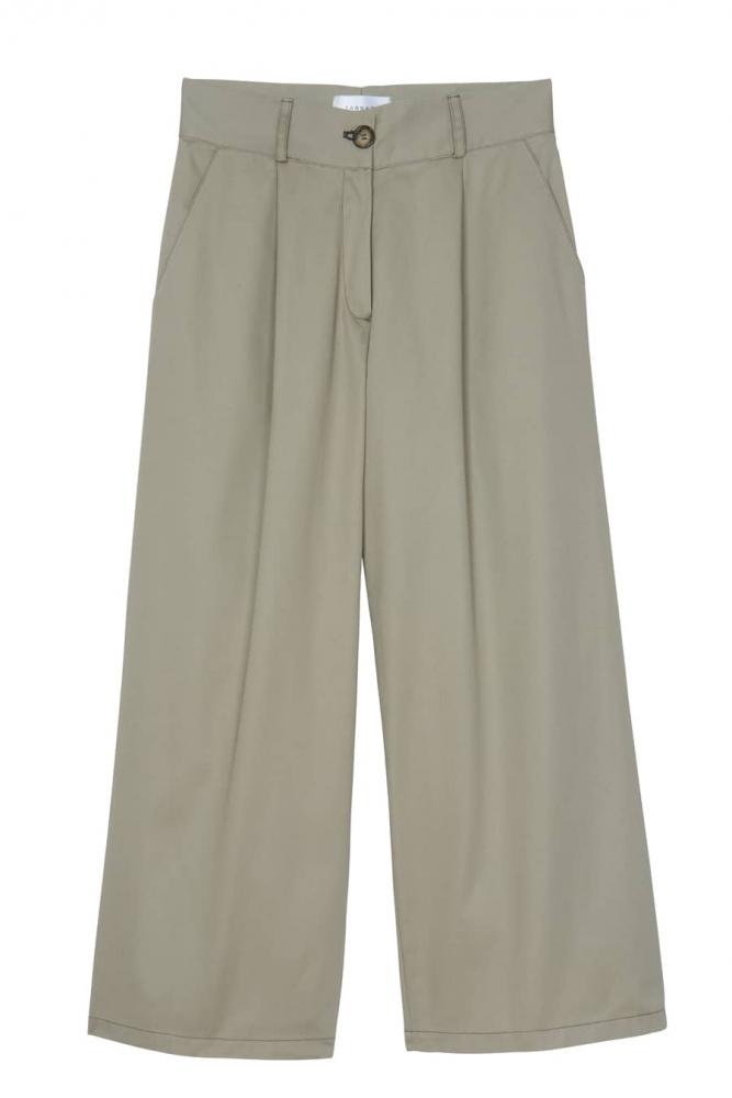 Pantalon en coton Anny - Gris