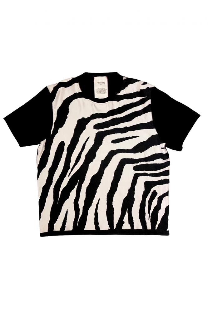 T-Shirt en Soie Zèbre