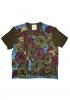 T-shirt en soie à imprimé Fleurs d'automne.