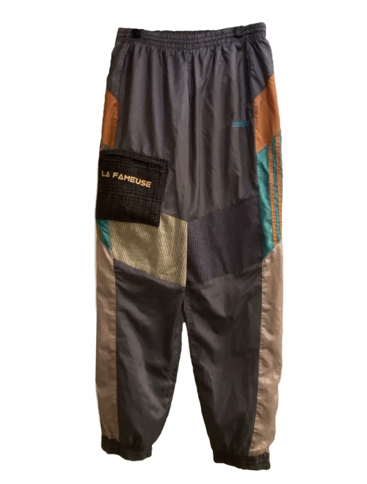 Trackpant Adidas vintage mix velours & tweed